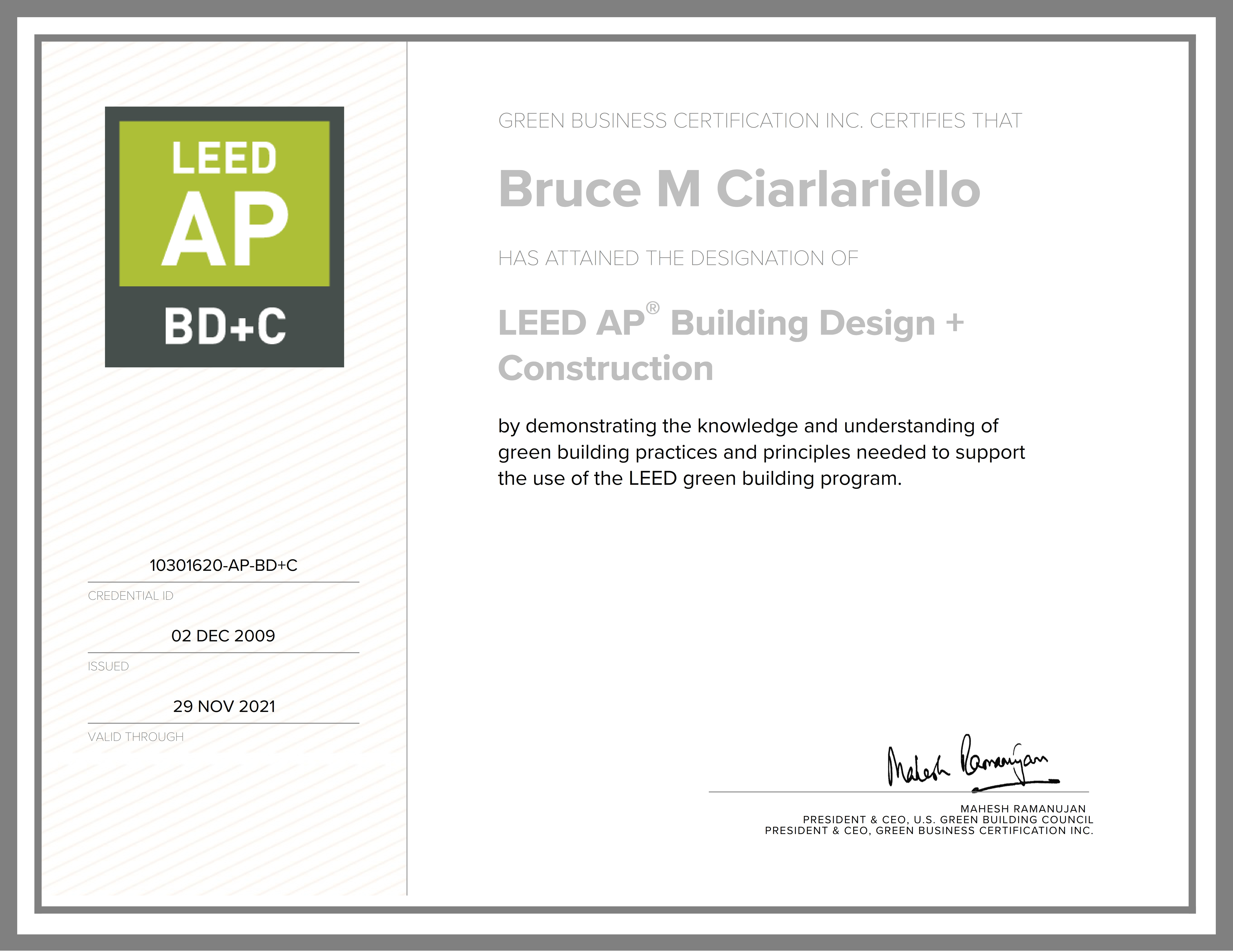 LEED AP Building Design & Construction